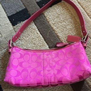 Pink Coach clutch
